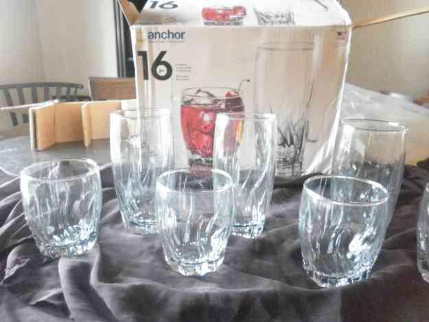 Juego de vasos de 14 pzas de cristal marca anchor - Vasos grandes cristal ...