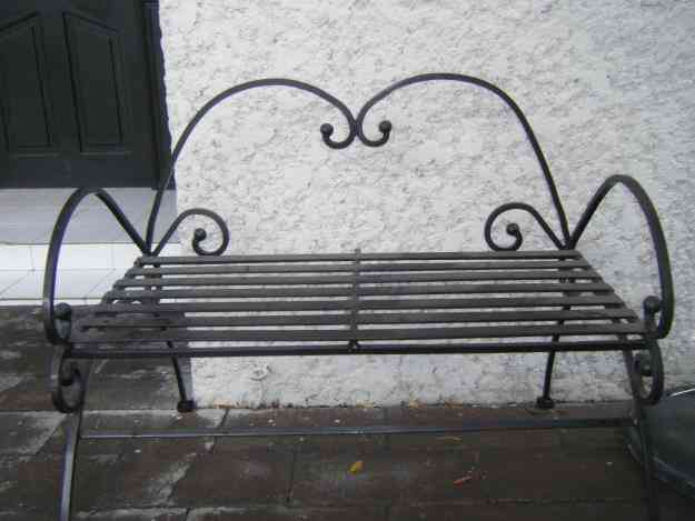 Bancas de forja para jardin monterrey doplim 37920 - Banco de forja para jardin ...