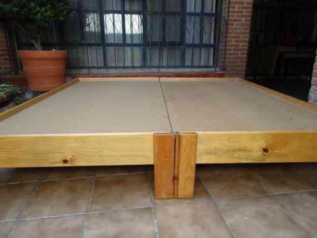 Vendo base de cama king size y o 2 individuales quer taro for Vendo cama individual