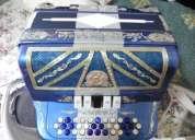 Excelente acordeon santa marsala, 5 reg sol, emblemas en plata voces gabbanelli
