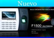 Reloj checador con huella digital f1500 multimedia