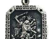 Dije arcangel miguel escudo protector curandero plata 925