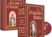 La sagrada biblia y rezos y oraciones 2 vols + 1 cd rom