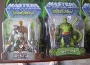Figuras de he-man whiplash, syclone, twobad, merman, mekanek, rattlor, he-man