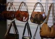 Excelente bolsas de mano de piel 100% realizadas completamente a mano