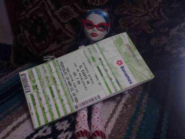 vendo boletos para el evento 40 2012