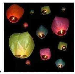 Velas Voladoras, Globos De Cantoya (varios Colores)