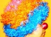 Pelucas de payaso, lacias, tricolor, largas, cortas