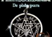 Pentagrama de plata pura 0.925 con aleación a los 7 metales / la mejor calidad