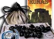 Runas de cuarzo  - incluye manual, tapete y bolsa de piel