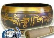 Tazón tibetano hecho a mano en 7 metales vírgenes - 13cm