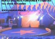 Circo circus fiestas tema en carpa de circo