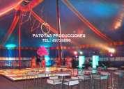 Fiestas tema en carpa de circo, tel 49729890