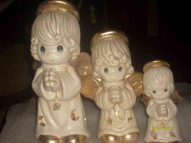 Recuerditos y centros de mesa para bautizo primera - Angelitos de yeso ...
