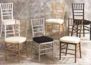 Renta de sillas