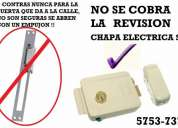 Chapas electricas de acero inoxidable 5753-7374 e interfon