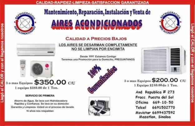 MANTENIMIENTOS DE AIRES ACONDICIONADOS Y MINISPLIT