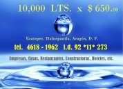 Pipa de agua potable 10,000 lts. $ 650 pesos