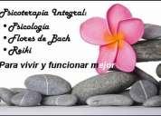 Psicóloga, pnl, flores de bach originales, reiki