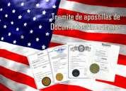 Tramite de apostillas de documentos americanos