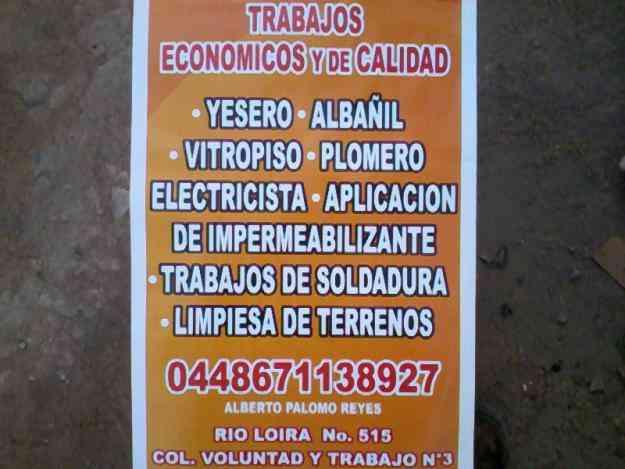 HAGO TRABAJOS MUY ECONOMICOS Y DE CALIDAD