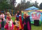 Show de princesas teatral cenicienta blanca nieves bella niñas para fiestas infantiles