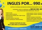 100 becas de ingles