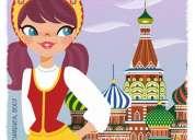Clases de idioma ruso, con maestra de rusia