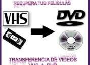 Transferencia de videos vhs- a dvd (xalapa- veracruz)