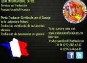 Perito traductor certificado francÉs-espaÑol-francÉs