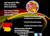Perito traductor certificado alemÁn-espaÑol-alemÁn