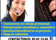 IntÉrpretes y traductores profesionales