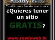 sitios web gratis!!! servicio profesional
