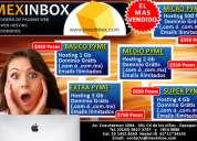 Mexinbox; diseño de paginas web y hospedaje