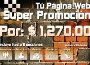 Súper promoción tú página web por solo $1,270.00