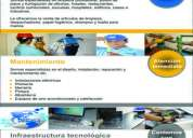 Servicio especializado de limpieza, mantenimiento y tecnología