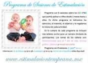 Programa de sesiones de estimulación temprana