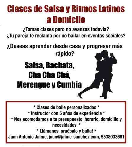 Clases privadas de baile a domicilio (Salsa, Bachata, Cumbia etc)