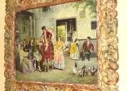 En venta oleos originales de pintores españoles con marco