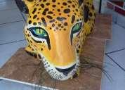 Mesa jaguar yeso artesanal unica pieza