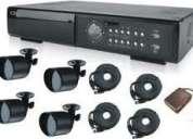 Circuito cerrado de televisión cctv, sistema de 4 cámaras
