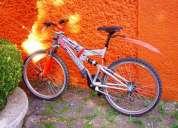 bicicleta benotto color gris en buenas condiciones