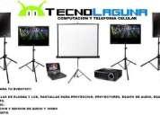 Renta de proyectores, notebooks equipos de audio, pantallas lcd