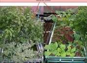 Mesa de cultivo con riego automático, progaia