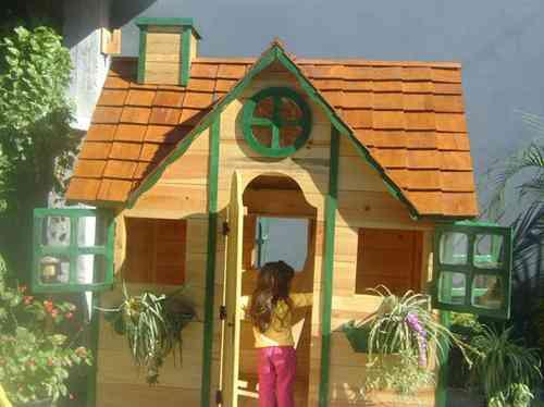 Fotos de excelentes casitas de madera para ni os a precios for Casitas de madera jardin para ninos