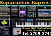Reparacion express amplis teclados zintes pedales consolas etc.