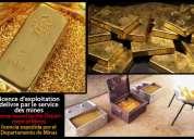 Comercio de crudo polvo de oro y lingotes