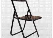 Vendo sillas plegables de lamina esmalte negro