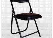 Venta de sillas plegables acojinadas en esmalte