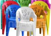 Vendo sillas infantiles de plastico
